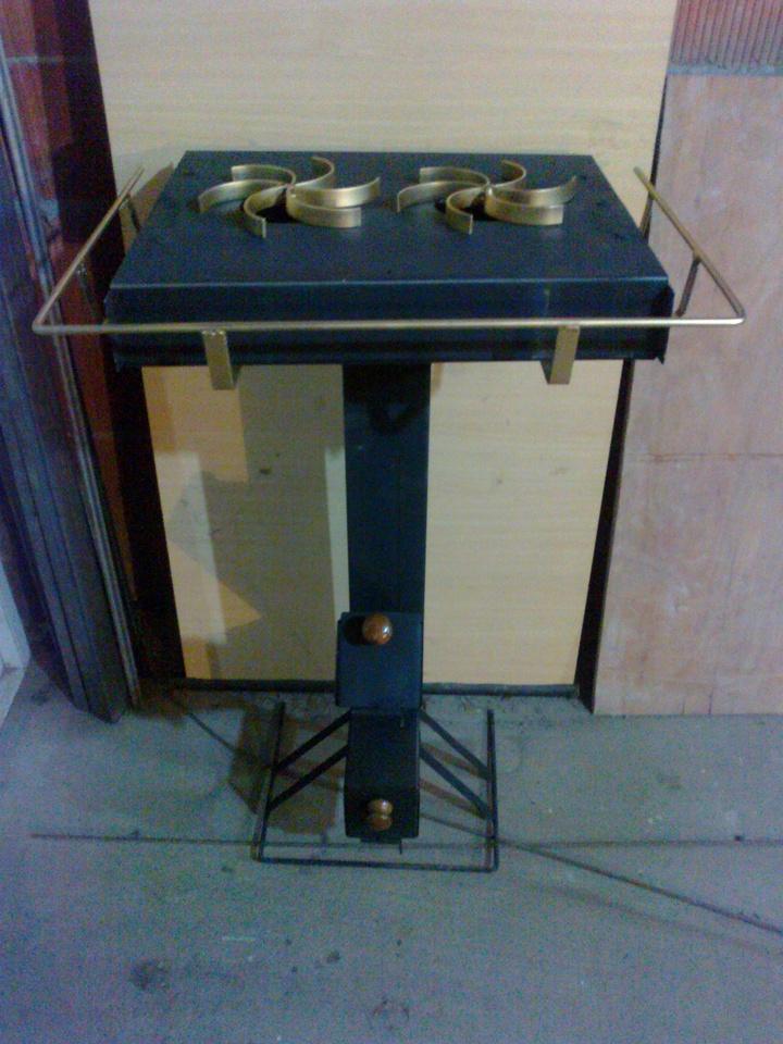 Cocina rocket de metal metal rocket stove nicol s di for Planos para cocina rocket